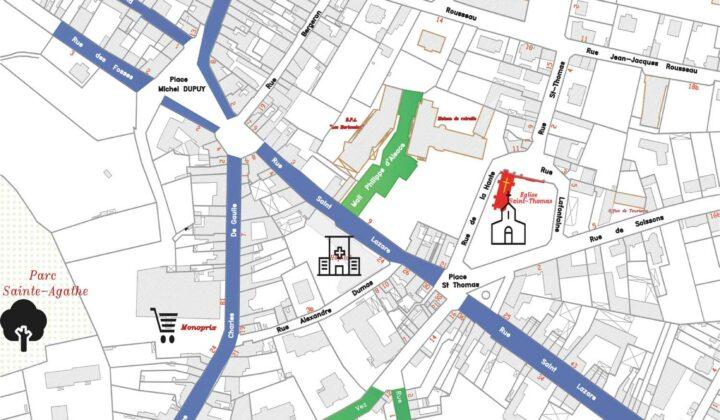 Plan des parkings de Crépy-en-Valois